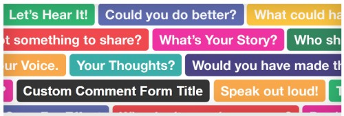 Custom Comment Form Title