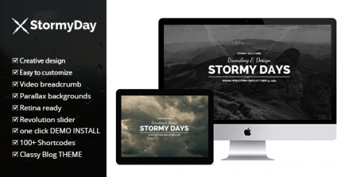 Stormy Day - One Page Multi-Purpose Blog Theme