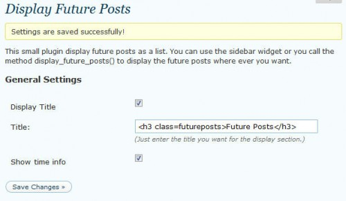 Display Future Posts