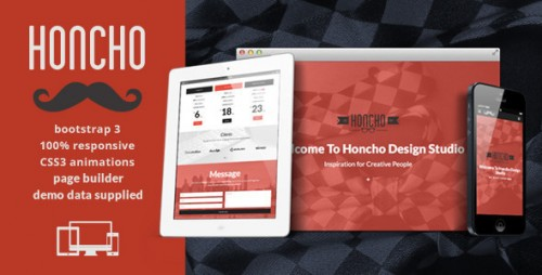 Honcho - OnePage, MultiPage Responsive Theme