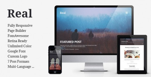 REAL - Responsive Blog WordPress Theme
