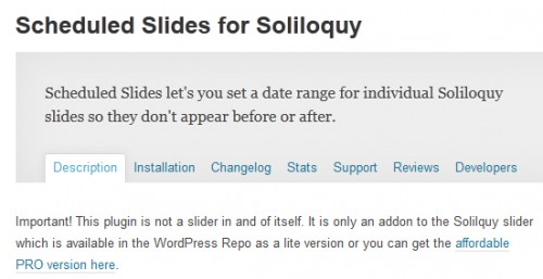 Scheduled Slides for Soliloquy