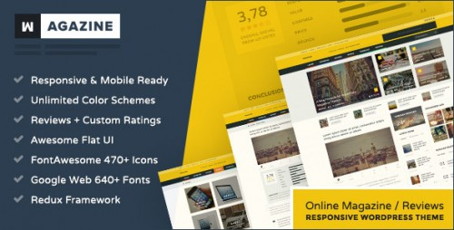 Wagazine - Magazine Responsive WordPress Theme