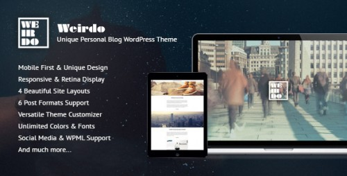 Weirdo - Unique Personal Blog WordPress Theme