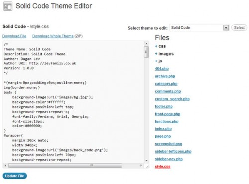 Solid Code Theme Editor