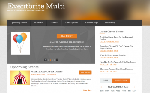 Eventbrite Multi Event