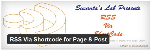 RSS Via Shortcode for Page & Post