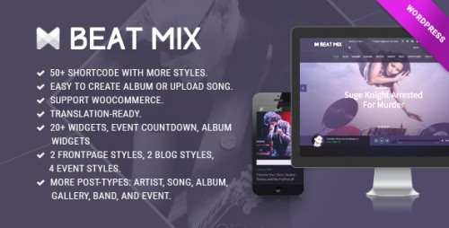 BeatMix Music and Band WordPress Theme