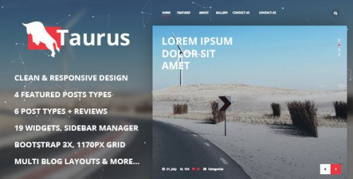 Taurus - Responsive WordPress News, Magazine, Blog Theme