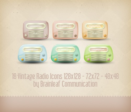 18 Free Vintage Radio Icons To Download
