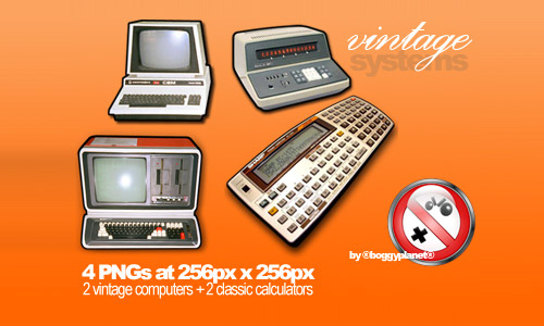 4 Free Vintage Systems Dock Icons