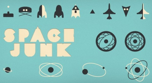 Free Space Junk Icon Set