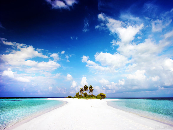 Paradise Island beach Wallpaper